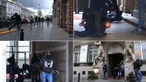 Tajniacy z bronią, strzały, przechodnie uciekają. Spektakularna akcja CBŚP