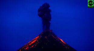 Erupcja wulkanu Fuego sprzed trzech tygodni (Katarzyna Kołpa, TheyAway.pl)