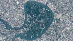 """""""Miejska dżungla"""" w sercu Bangkoku. Zielone płuca metropolii widziane z orbity"""
