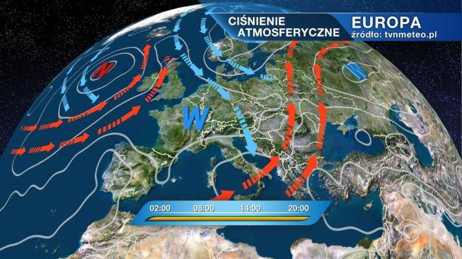 Nad Polską znajduje się deszczowy front atmosferyczny