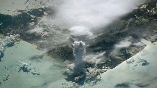 Wieża z chmur. Niezwykłe zdjęcie zrobione z kosmosu