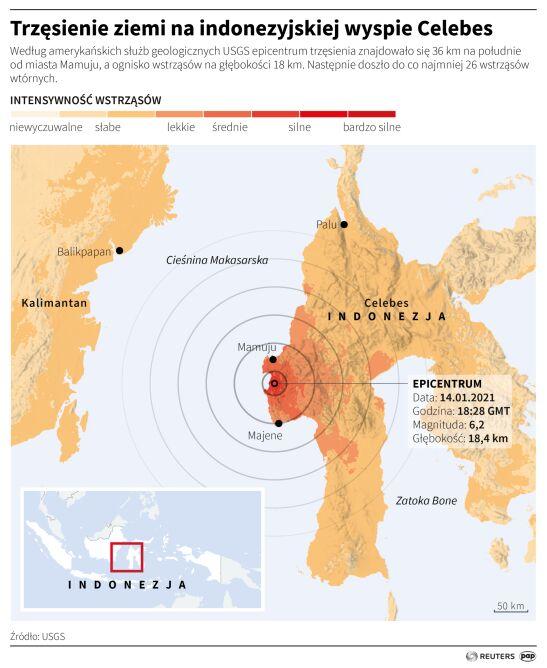 Trzęsienie ziemi na Celebesie (PAP/Reuters/Maria Samczuk)