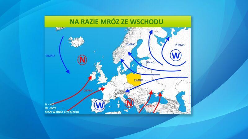 Do Polski napłynie mroźne powietrze