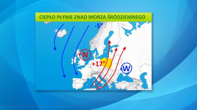 Polska znajdzie się między niżem a wyżem, dlatego pogoda będzie wyjątkowo łagodna