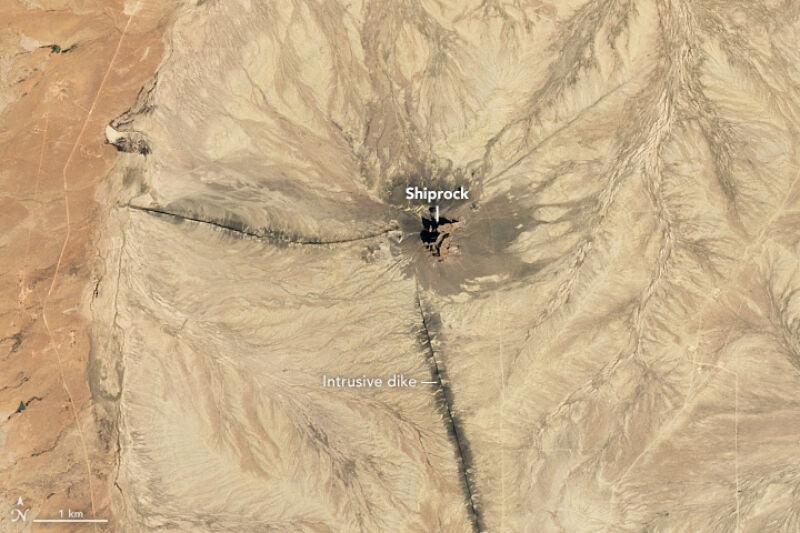 Shiprock w Nowym Meksyku