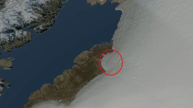 Krater większy od Paryża <br />pod lodem Grenlandii