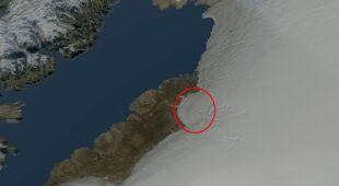 Gigantyczny krater pod lodem Grenlandii