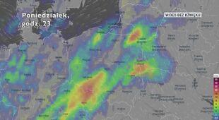 Opady deszczu w ciągu najbliższych pięciu dni (Ventusky.com) | wideo bez dźwięku