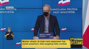 Minister Zdrowia Adam Niedzielski o noszeniu maseczek