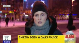 Szczecin o poranku po nocnych obfitych opadach (TVN24)